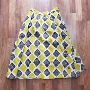 Edme & Esyllte Anthropologie Retro Midi Skirt